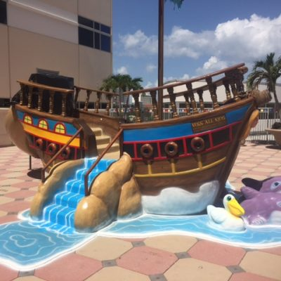 Pirate Ship w Dolphins (Profile)