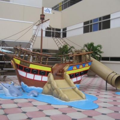 Pirate Ship w Dolphins 2